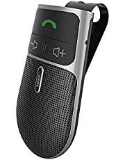 2021 SUNITEC BC920 Bluetooth Hands Free Car Kit, Connects with Siri & Google Assistant, Auto On Off, Handsfree Speakerphone Wireless in Car, 2W Powerful Speaker, Dual Link Connectivity & Visor Clip