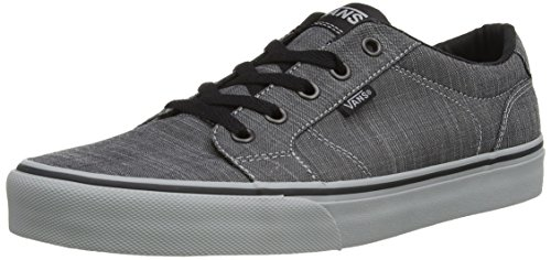 Vans Men's Bishop Textile Ankle-High Canvas Fashion Sneaker (11 M US, (F14 Textile) Black/Grey)