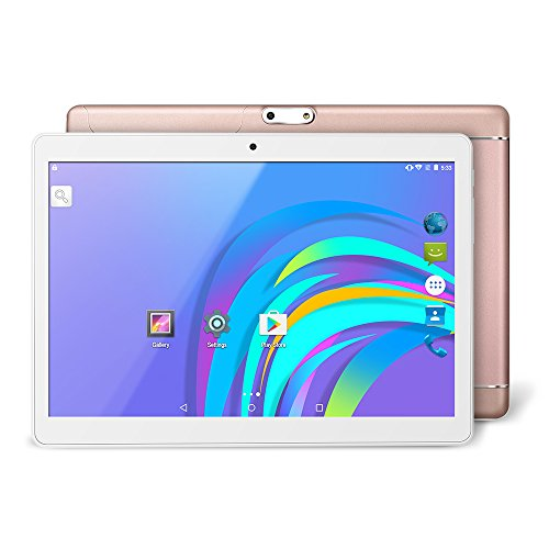 YUNTAB K98 Tablet, 9.6 inch, Support 2G 3G Dual SIM Card Slot Unlocked Cell Phone, 1GB+16GB, Android 5.1 MT6580 A7 Quad-Core, IPS Screen(800×1280), Dual Camera & WiFi(Rose Gold)