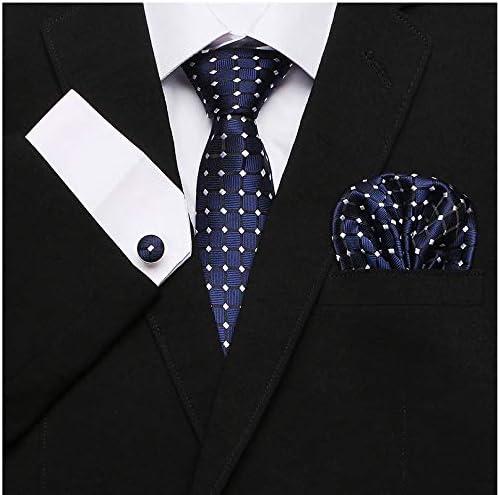 Gemelli e Fazzoletto da Taschino in Seta 100/% Confezione Regalo Originale ed Elegante Disegnato in Italia e Cucito a Mano Ducomi Silk Cofanetto Coordinato Uomo con Cravatta