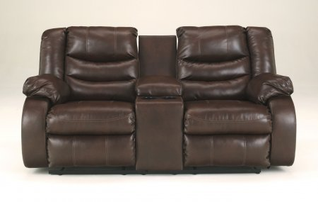 Ashley 9520194 Linebacker Durablend Espresso Double Reclining Loveseat with