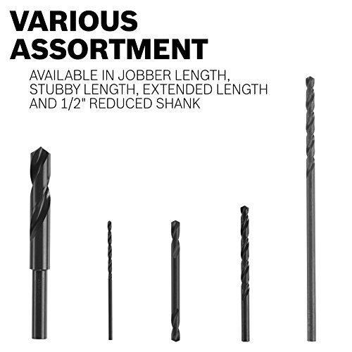 Bosch BL2747 5/16 In. x 12 In. Extra Length Aircraft Black Oxide Drill Bit