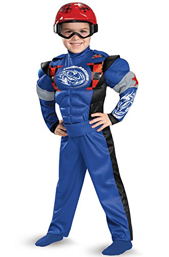 Disguise 84008M Race Car Driver Toddler Muscle Costume, Medium (Race Car Driver Costume Toddler)