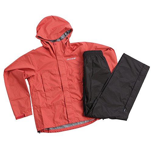 オンヨネ ブレステック 2.5L レインスーツ メンズ レインウェアー上下セット(男性用登山用雨具/雨カッパ) ODS90025_M_レッド(065)