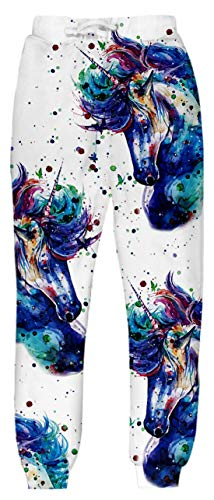 - Belovecol Sweatpants for Mens Womens 3D Animal Horse Graphic Active Sports Pants Gym Trousers M