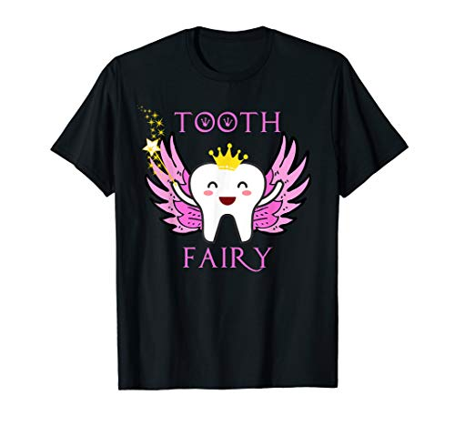 Cute Tooth Fairy Crown Pink Baby Tooth Costume T Shirt