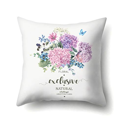 (Cushion Cover - Flower Circle Garland Pillow Case Waist Cushion Cover Wedding Party Home Car Office Sofa Decor - Mexican Large Seat Elegant Euro Only Cover Zipper Paris Deer Leaf Pillow H)