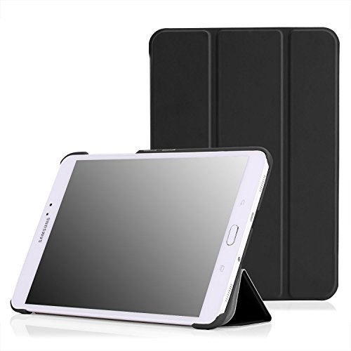MoKo Tab S2 8.0 Case - Slim Lightweight Smart Stand Cover Case with Auto Wake/Sleep for Samsung Galaxy Tab S2 / S2 Nook 8.0 inch Tablet, Black
