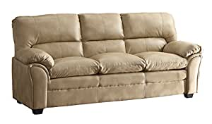 Homelegance Talon Contemporary Sofa Bonded Leather, Taupe