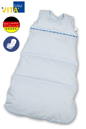 VitaSchlaf Daunenschlafsack, Ganzjahreschlafsack, in 3 Größen 80cm - 110cm - 130 cm