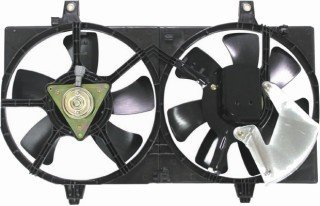 Cooling Fan Radiator Sentra Nissan - QP N2312-a Nissan Sentra Replacement AC A/C Condenser Radiator Cooling Fan/Shroud Assembly