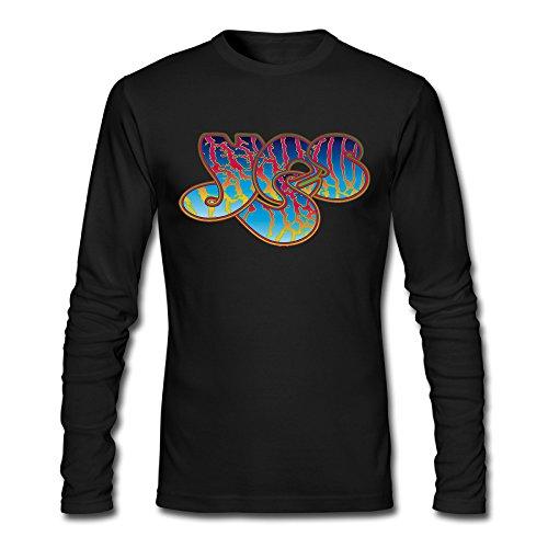 Custom Black Yes Rock Band Logo Men's Long Sleeve T-Shirt - Band Logo Shirt