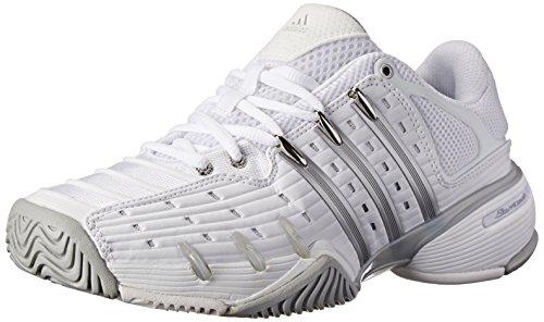 adidas Performance Women's Barricade V Classic W Tennis Shoe, White/Silver/Grey, 7.5 M US