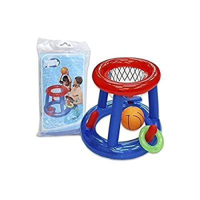 """Inflatable Basketball AND Ring Toss Pool Game In One (24"""" High) - Great Inflatable Pool Toys for Adults or for Kids -: Toys & Games"""