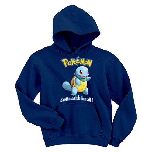 OCPrintShirts Unisex Hoodie Squirtle Pokemon Navy XL - Squirtle Hoodie