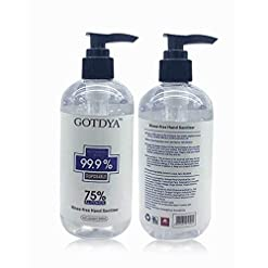 Disposable Hand San-itizer Gel,300ml 75% Alcohol Kills 99.99% Germs No Water Required, Long-lasting Anti-Bacterial Quick Drying Liquid Hand Soap (1pcs)