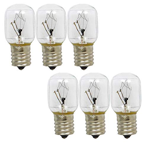 ANTOBLE 8206232A Light Bulb for Whirlpool Microwave Replace 1890433 8206232 AP4512653-6 Pack