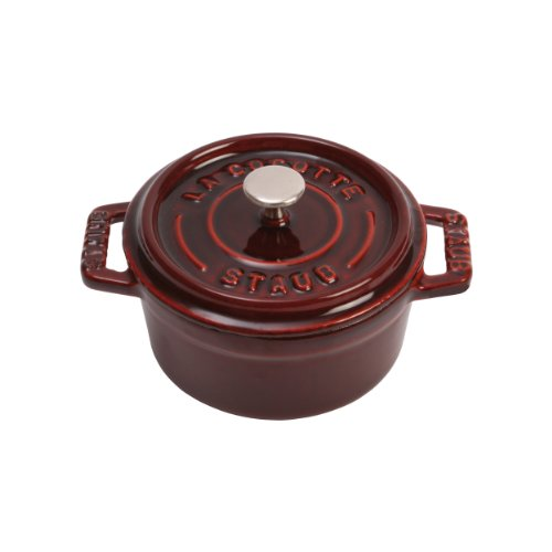 0.25 Quart Oven - Staub Grenadine Enameled Cast Iron Mini Round Cocotte, 0.25 Quart