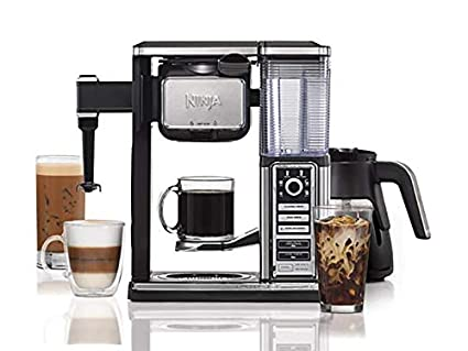 NINJA Coffee Bar Glass Carafe System with Auto-iQ One Touch, Silver/Black (Renewed)
