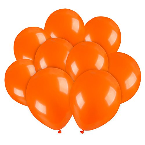 Halloween Costumes That Are Easy To Make (Sumind 50 Pack 10 Inch Latex Balloons Halloween Home Decorations Balloons for Wedding Party Decor Birthday Halloween Balloons (Orange))