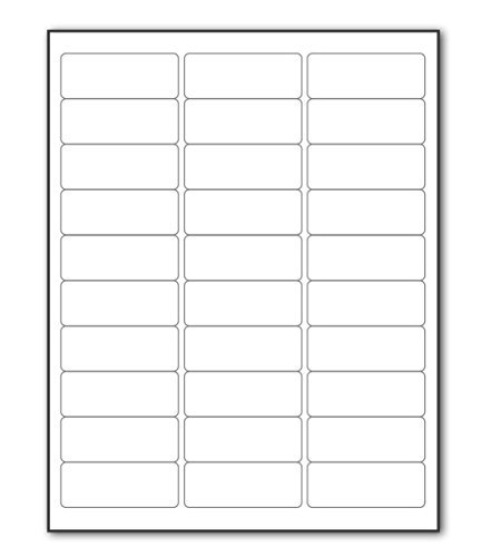 100 Sheets Sticker Labels Shipping Address Labels For Laser/Ink Jet Printer (30-UP) (100 Label Address Sheet)