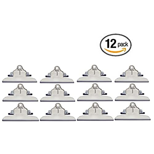High Capacity 12 Pack Mountable Clipboard clips by Saunders Made in USA