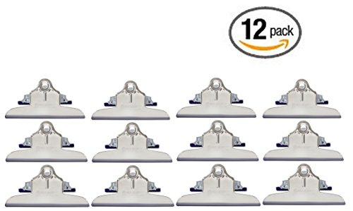 12 Pack Mountable Clipboard clips by Saunders , Made in USA (High Capacity)