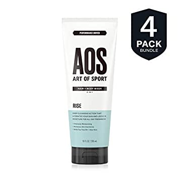 Art of Sport Men s Body Wash with Tea Tree Oil and Aloe Vera, Rise Scent, Dermatologist-Tested, Paraben-Free, Hypoallergenic, Moisturizing Shower Gel 4 pack