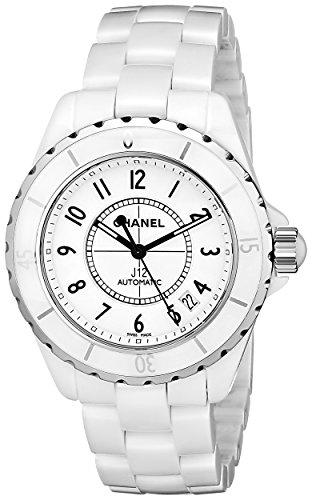 Chanel Women's H0970 J12 White Ceramic Bracelet Watch Chanel Crystal Bracelets