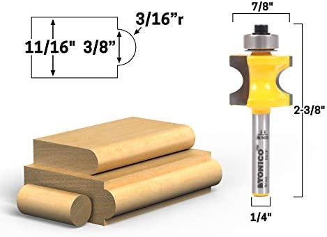 "8 Pc 1//4/"" Shank Tungsten Carbide Router Bit SetPremium Quality"