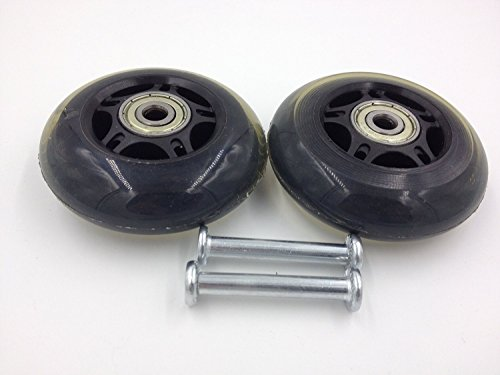 Ff Life Luggage Suitcase   Inline Outdoor Skate Replacement Wheels With Abec 636Zz Bearings  2 Wheels  60 24