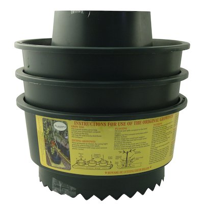 A6 Gardening Garden Growpot Growbag Watering Pot - Green (Set of 6)