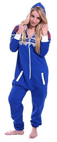 514568f413 Galleon - SKYLINEWEARS Womens Onesie Fashion Playsuit Ladies Jumpsuit Aztec  Blue S
