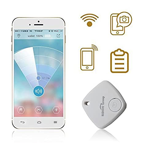 Fordex Group Mini Bluetooth Tracker Child Bag Alarm Wallet Anti-lost Tracker Key Pet Smart Finder Mini GPS Locator Alarm For Android IOS (White) Sidiou Group SDO-XWQ001W