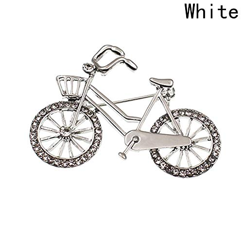 Brooch Bike Pin (Dunnomart Creative Bicycle Brooches Pins Rhinestone Bike Brooch Corsage Gifts for Men and Women Accessory)