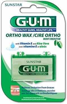 GUM Orthodontic Wax, Mint with Vitamin E and Aloe Vera