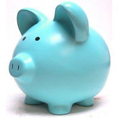 March Birthstone Ceramic Piggy Bank   Custom  10 Inch Custom