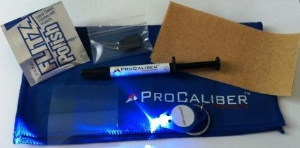 ProCaliber Products 10-11-711 Clear LCA Clear Granite/Marble/Quartz Chip Repair Kit, 1 mL, Syringe