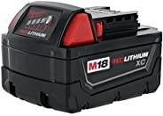 Milwaukee 48-11-1828 Genuine OEM M18 3 Amp Hour 18V Lithium Ion XC Extended Capacity Battery with Redlink Inte