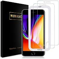 【ガイド枠付き】【2枚セット】Nimaso iPhone8 Plus / iPhone7 Plus 5.5インチ用 強化ガラス液晶保護フィルム 日本製素材旭硝子製( アイフォン8 Plus/7 Plus)