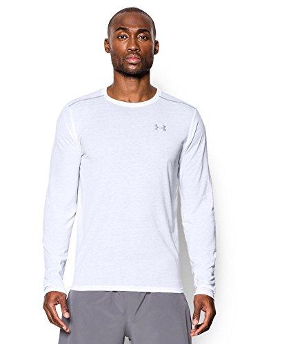 Under Armour Men's Streaker Run Long Sleeve T-Shirt, White (100), Medium