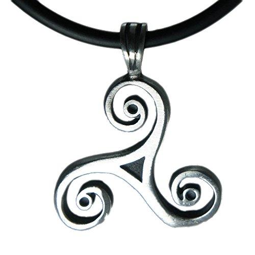 (Exoticdream Classic Triskele Magic Merlin Celtic Pewter Pendant + 18