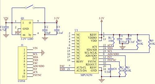 HiLetgo MPU9250/6500 9-Axis 9 DOF 16 Bit Gyroscope Acceleration