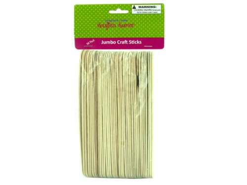 Jumbo wood craft sticks-Package Quantity,125 by krafters korner