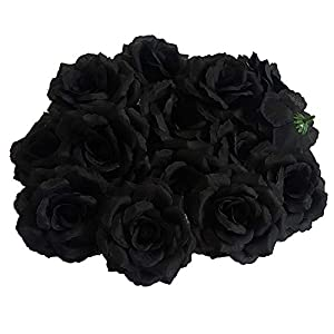 Eternal Blossom Fake Flower 8CM Rose Flower Head, 20pcs Artificial Flower for DIY, Party Interior Dress Up and Wedding 27