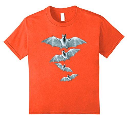 Kids Halloween Shirt Bats T Shirt Halloween Costume Idea 8 Orange