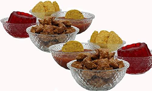 Eleganceinlife Glass Bowls Set For Serving Salad Fruit 5