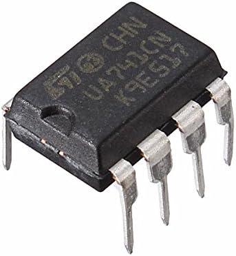 LaDicha 10Pcs Ua741Cn Dip-8 Ua741 Lm741 St IC Chip Amplificador Operacional
