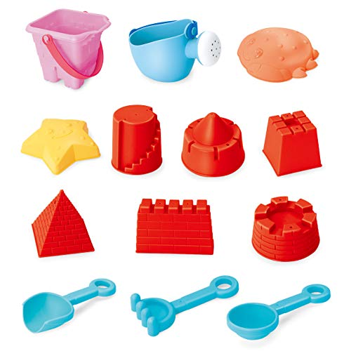 EXERCISE N PLAY Beach Sand Toys Set, Beach Toys, Sand Toys for Toddlers Kids Building on Beach or in Sandbox -
