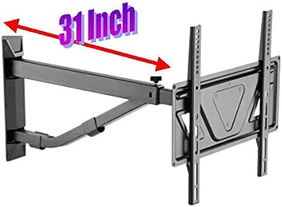 Mount Plus MP-443C Long Arm TV Wall Mount with 31 Inch Extension Full Motion Design for Corner Installation Fits 32 – 60 TV 110 Pound Capacity Max VESA 400×400 Corner Wall Mount